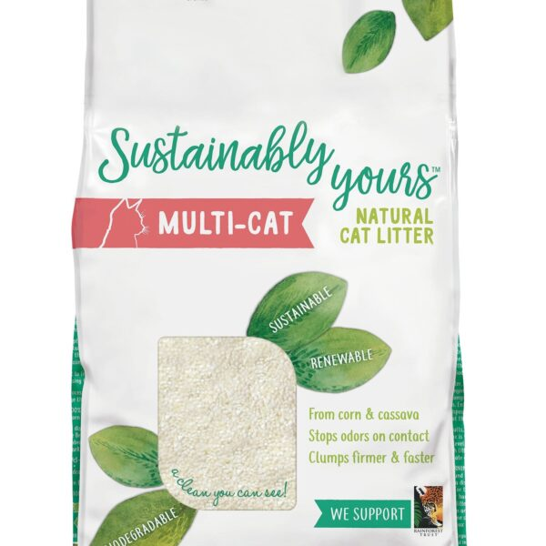Arena ecológica para gatos Sustainably Yours Multi-cat (roja) x 5.9 kilos