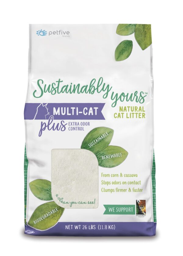 Arena ecológica para Gatos Sustainably Yours Multi-cat Plus x 11.8 kilos